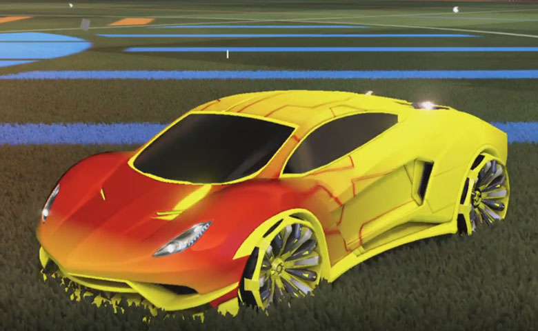 Rocket league Endo Saffron design with Grappler,Mainframe