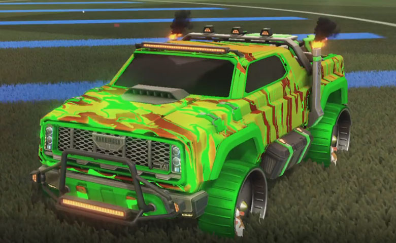 Rocket league Harbinger GXT Forest Green design with Hamster,Liquid Camo