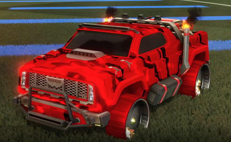 Rocket league Harbinger GXT Crimson design with Hamster,Liquid Camo