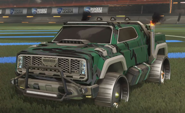 Rocket league Harbinger GXT Grey design with Hamster,Liquid Camo