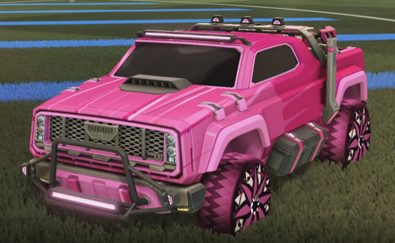 Rocket league Harbinger GXT Pink design with Mandala,Wet Paint