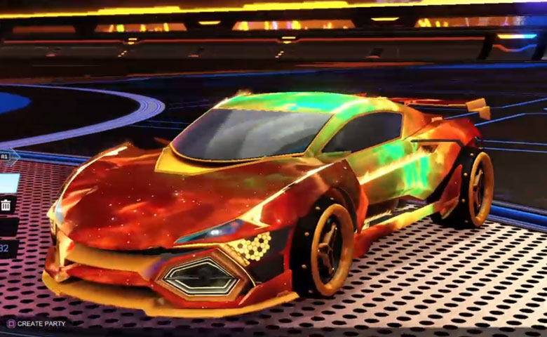 Rocket league R3MX GXT Orange design with SPN,Interstellar