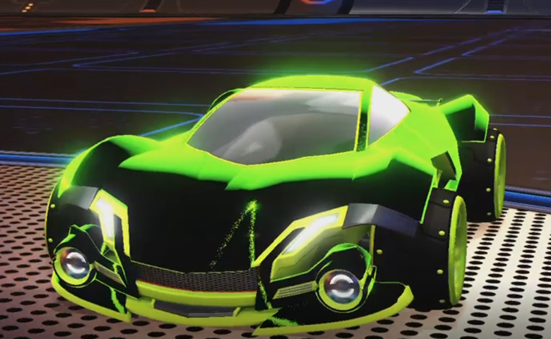 Rocket league Werewolf Lime design with SPN,Stipple Gait