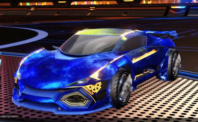 Rocket league R3MX GXT Cobalt design with Draco,Interstellar