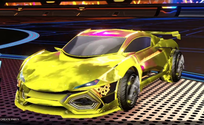 Rocket league R3MX GXT Saffron design with Draco,Interstellar