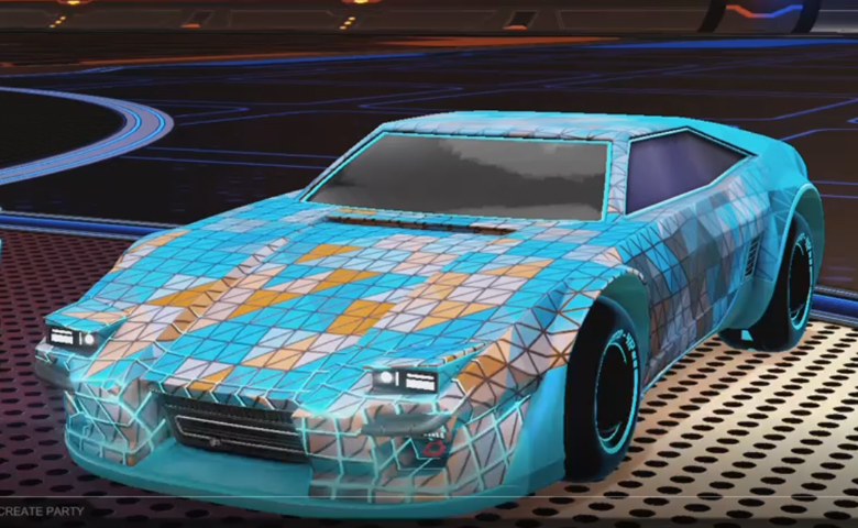 Rocket league Imperator DT5 Sky Blue design with Esoto 4R: Inverted,Trigon