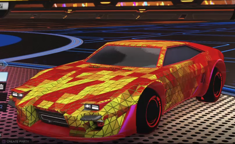 Rocket league Imperator DT5 Crimson design with Esoto 4R: Inverted,Trigon