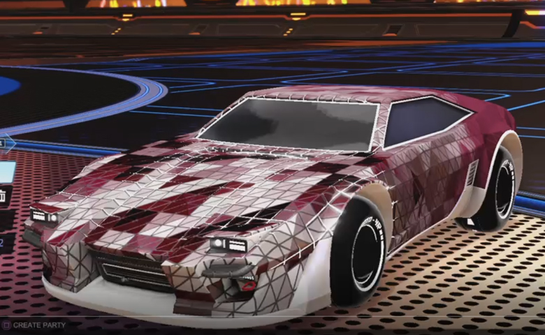 Rocket league Imperator DT5 Titanium White design with Esoto 4R: Inverted,Trigon