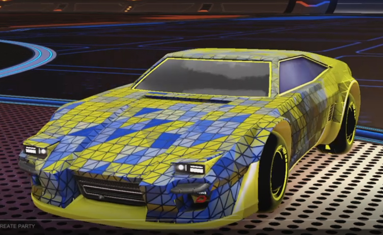 Rocket league Imperator DT5 Saffron design with Esoto 4R: Inverted,Trigon