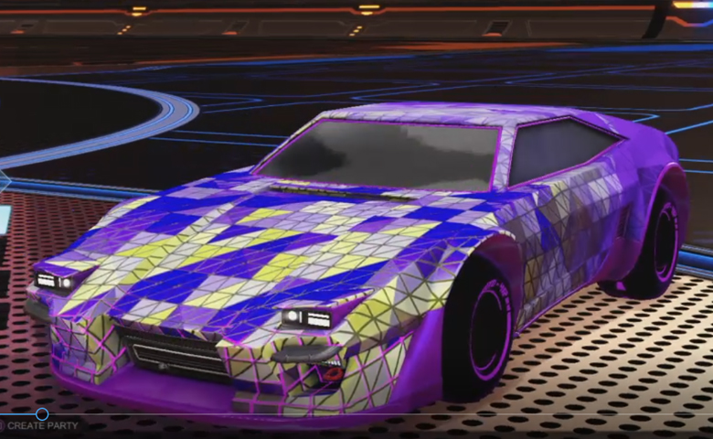 Rocket league Imperator DT5 Purple design with Esoto 4R: Inverted,Trigon