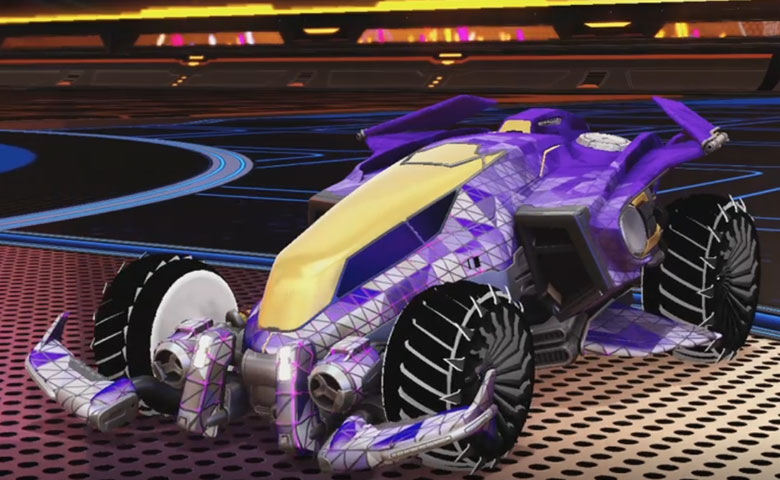 Rocket league Vulcan design with Glaive,Trigon