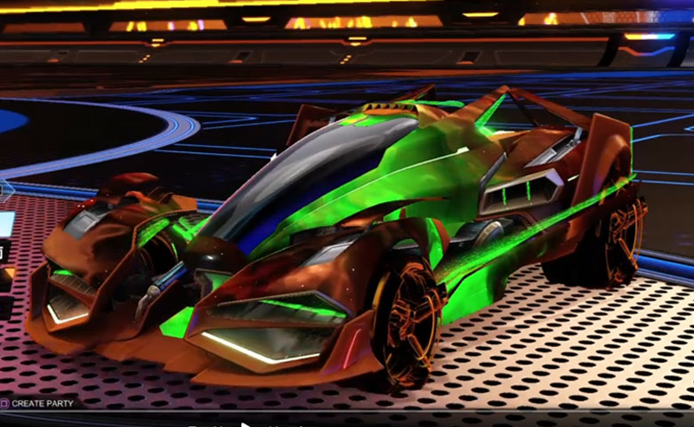 Rocket league Artemis GXT Burnt Sienna design with Burnt Sitenna CNTCT-1: Infinite,Interstellar