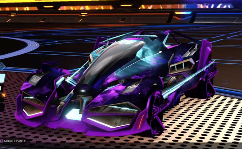 Rocket league Artemis GXT Purple design with CNTCT-1: Infinite,Interstellar