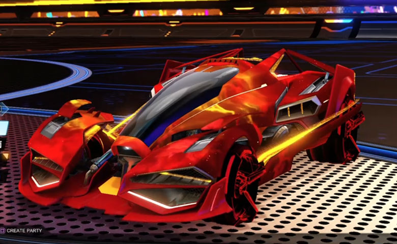 Rocket league Artemis GXT Crimson design with CNTCT-1: Infinite,Interstellar