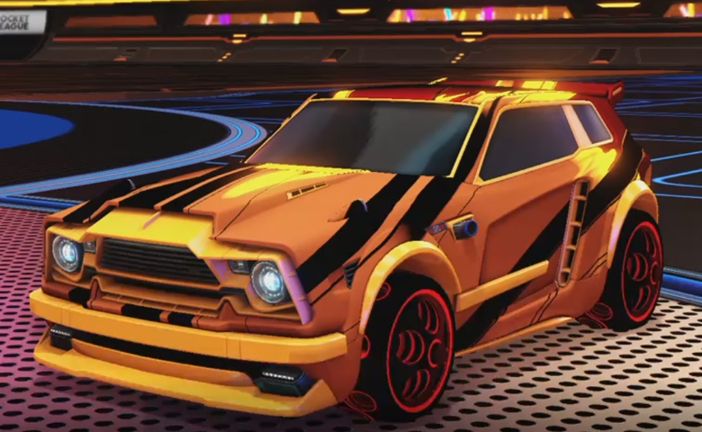 Rocket league Fennec Orange design with Bravado: Infinite,Exalter