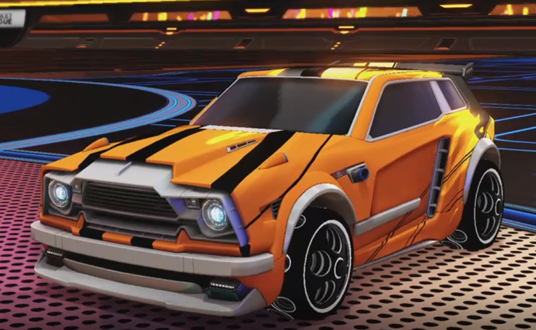 Rocket league Fennec Grey design with Bravado: Infinite,Exalter