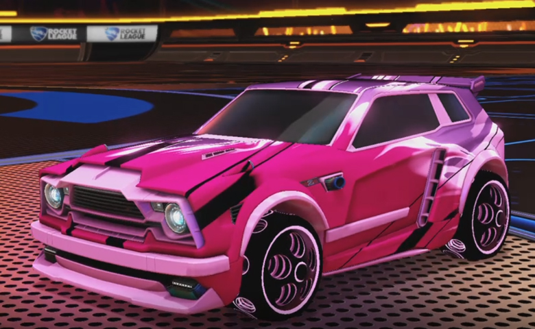 Rocket league Fennec Pink design with Bravado: Infinite,Exalter