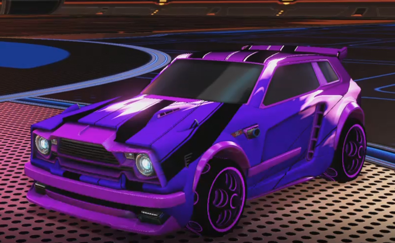 Rocket league Fennec Purple design with Bravado: Infinite,Exalter