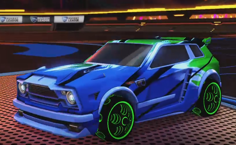 Rocket league Fennec Cobalt design with Bravado: Infinite,Exalter