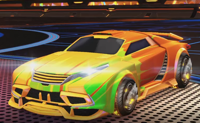 Rocket league Tygris Orange design with Draco,Wet Paint