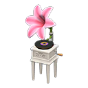 ACNH Lily Themed Items - Lily record player (Pink)