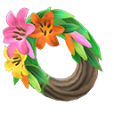 ACNH Lily Themed Items - Fancy lily wreath