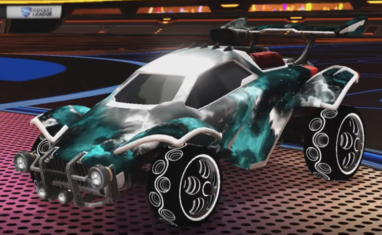 Rocket league Octane Titanium White design with Bravado:Infinite,Interstellar