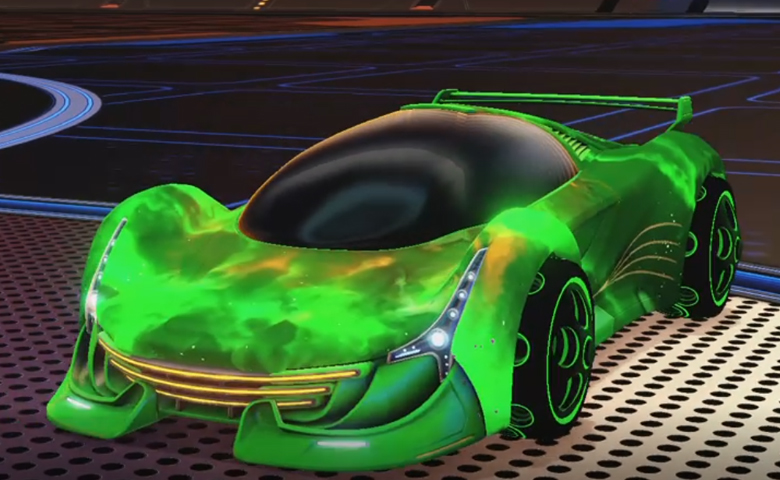 Rocket league Nimbus Forest Green design with Bravado:Infinite,Interstellar