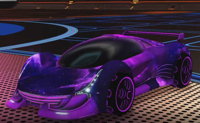 Rocket league Nimbus Purple design with Bravado:Infinite,Interstellar