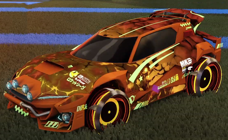 Rocket league Mudcat GXT Burnt Sienna design with Irradiator,Chameleon