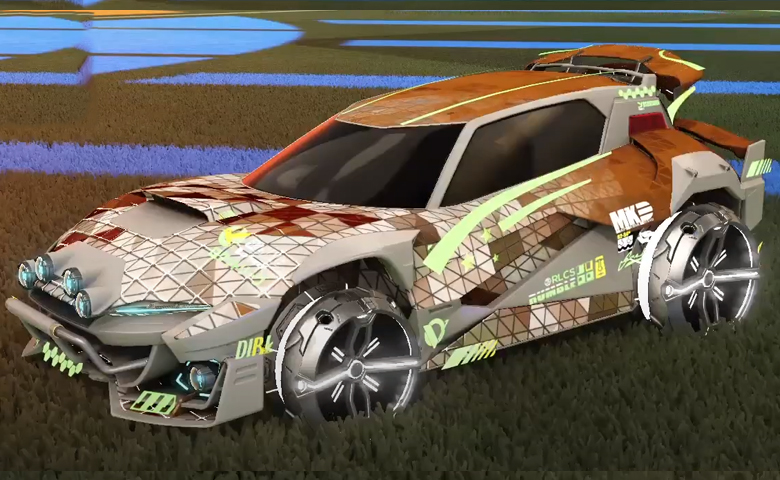 Rocket league Mudcat GXT Grey design with Philoscope III,Trigon