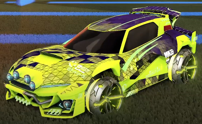 Rocket league Mudcat GXT Lime design with Philoscope III,Trigon
