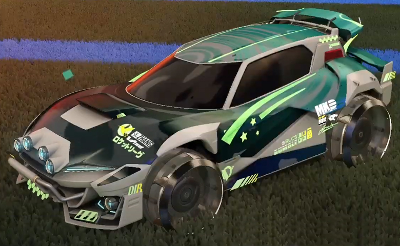 Rocket league Mudcat GXT Grey design with Irradiator,Storm Watch