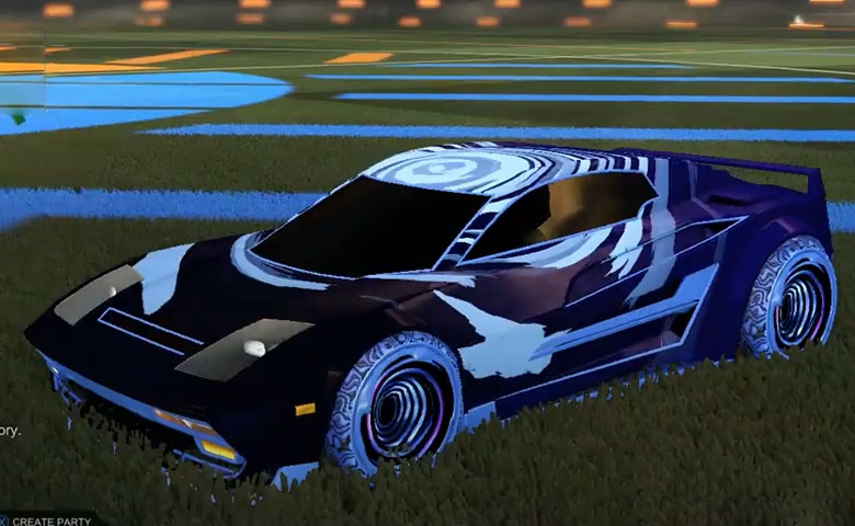 Rocket league Diestro Cobalt design with Hypnotik,Storm Watch