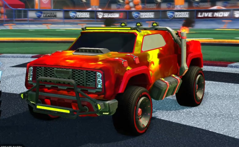 Rocket league Harbinger GXT Crimson design with Joko XL,Interstellar