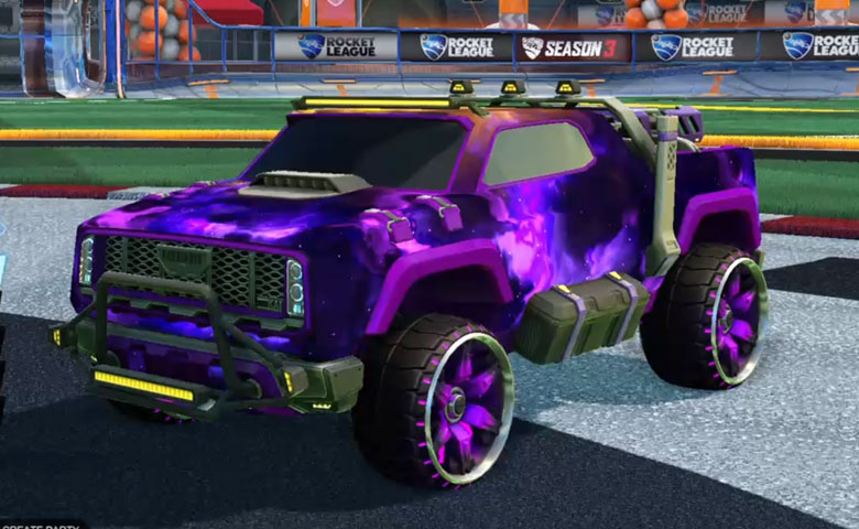 Rocket league Harbinger GXT Purple design with Maxle-PA,Interstellar