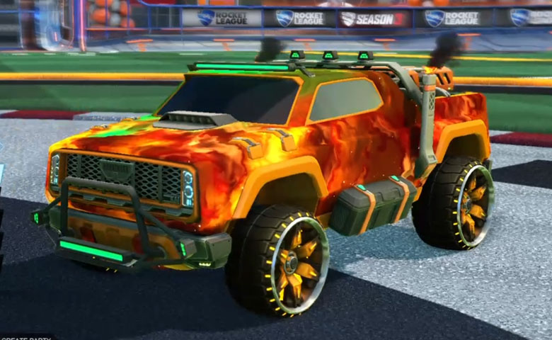 Rocket league Harbinger GXT Orange design with Maxle-PA,Interstellar