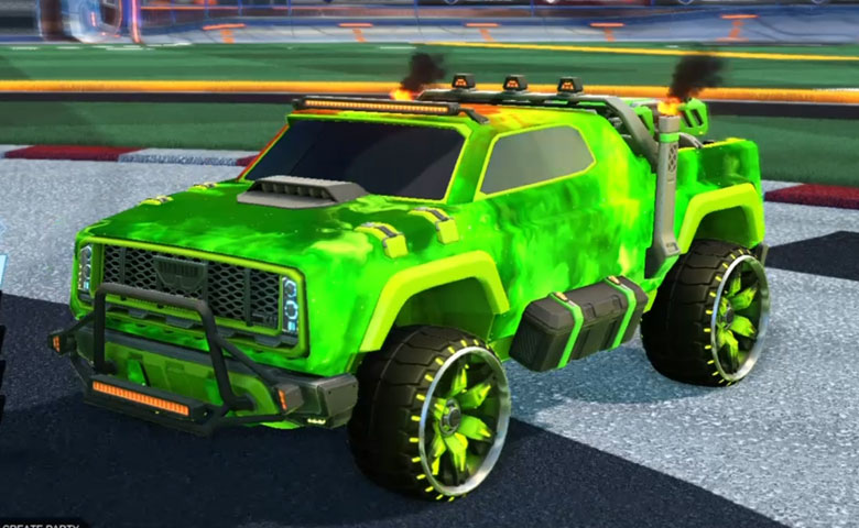 Rocket league Harbinger GXT Lime design with Maxle-PA,Interstellar