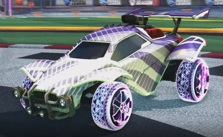 Rocket league Octane Titanium White design with Traction:Hatch,20XX