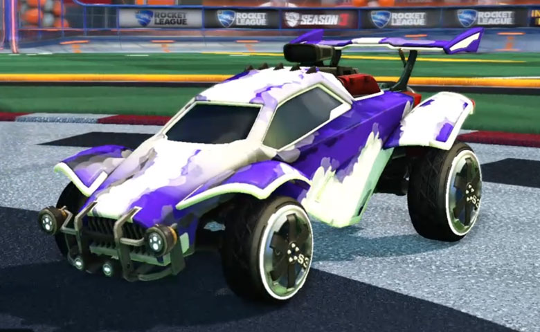 Rocket league Octane Titanium White design with Zadeh S3,Smokescreen