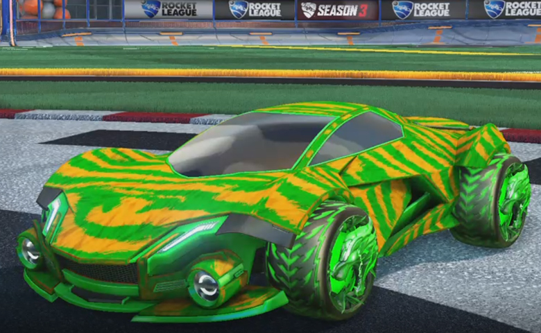 Rocket league Werewolf Forest Green design with Dire Wolf,Tora