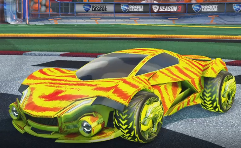 Rocket league Werewolf Saffron design with Dire Wolf,Tora