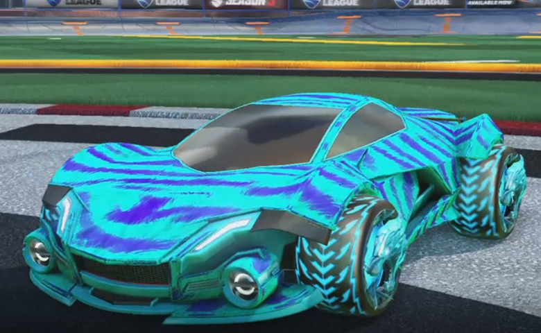 Rocket league Werewolf Sky Blue design with Dire Wolf,Tora