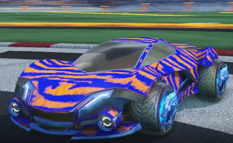 Rocket league Werewolf Cobalt design with Dire Wolf,Tora