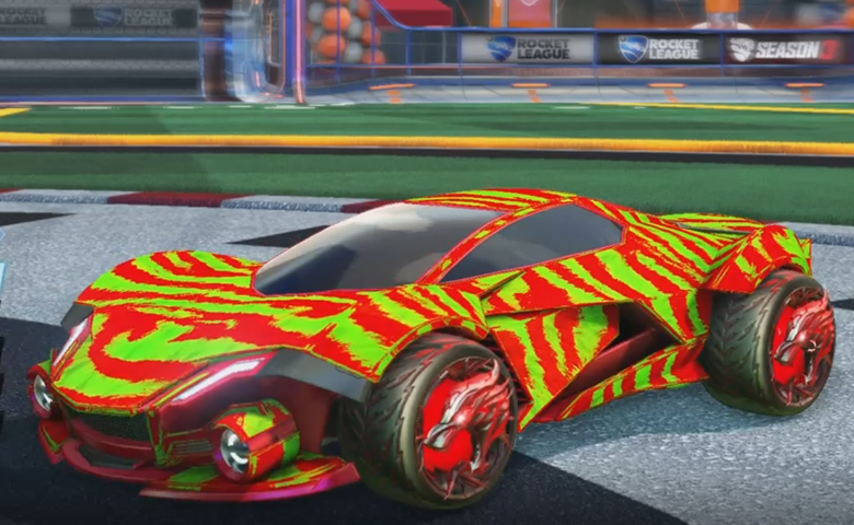 Rocket league Werewolf Crimson design with Dire Wolf,Tora