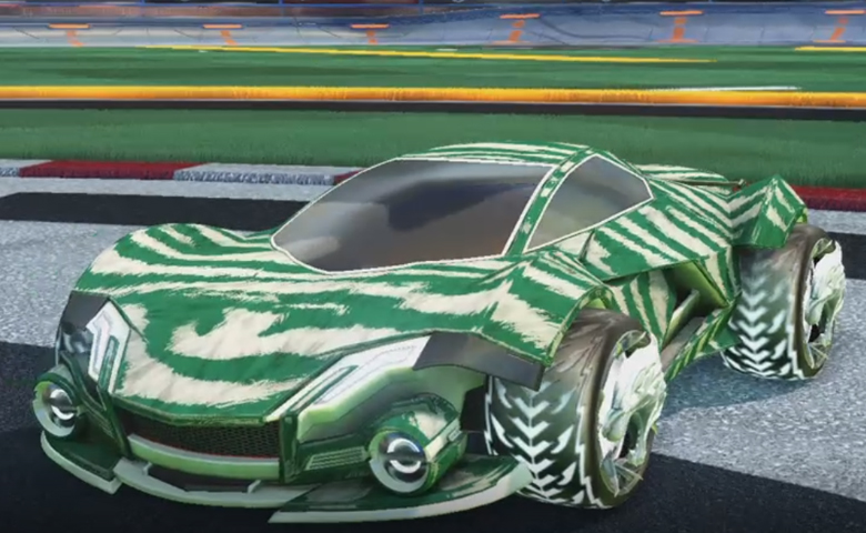 Rocket league Werewolf Titanium White design with Dire Wolf,Tora