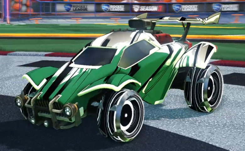 Rocket league Octane Titanium White design with Irradiator,Exalter